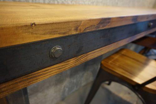 手作りカウンターテーブルセット